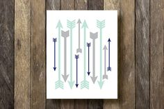 Arrows Printable Instant Download Mint and by TheLionAndTheLark