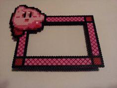 Kirby Perler Bead Sprite Picture Frame by OCBeadSprites