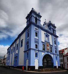 Azorean Blue Church II - Portugal Azores Terceira Angra Heroismo