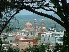 """Teocaltiche (Nahuatl: Teocaltillitzin """"place near the temple"""") is a city and municipality in the central-western Mexican state of Jalisco."""