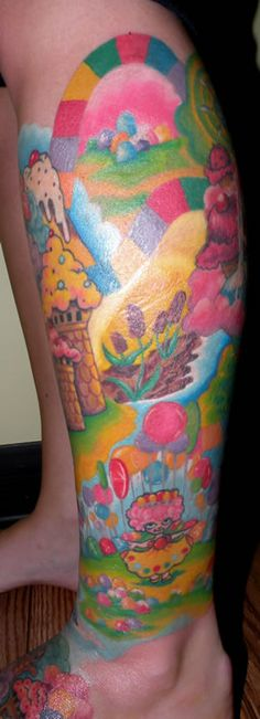 candy land tattoo. thats the shit right there.