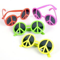 Peace sign sunglasses~ 70s theme bunco - find and sell hand made and vintage items @ repinned by www.blucats.com