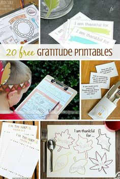 FREE Thanksgiving Printables from gratitude lists and gift ideas to activity pages for the kids.