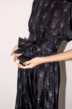 No.6 Kimono Dress in Lavender Black Print