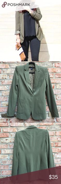 "❗️1 HOUR SALE❗️Body by Victoria Light Green Blazer Body by Victoria Light Green Blazer. Pic 1 for styling inspiration only. Measures from pit to pit 18""/ waist 16.5""/ length 27"". Fully lined. Two front bottom pockets and one upper pocket. Shell is made of poly/ Rayon/ spandex blend. Lining is 100% polyester. Victoria's Secret Jackets & Coats Blazers"