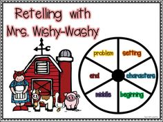 Retelling with Mrs. Wishy-Washy—with FREE Download!