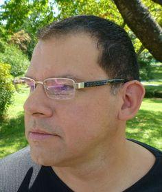 057480c397b Carlo Bellini Buffalo Horn Titanium Half-Rimless Matte Silver Metal  Eyeglasses Bellini