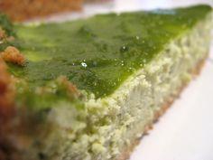 matcha cheesecake and matcha curd topping ♥