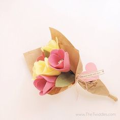 Tulip Felt Flower Bouquet - 6ct.  - Thumbnail 2