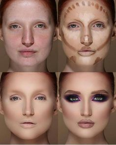 Easy Conture And Hignlight Makeup Tutorial Step By Step Ideas For Prom - Page 4 of 22 - Make Up 2019 How To Do Makeup, Basic Makeup, Eye Makeup Tips, Simple Makeup, Beauty Makeup, Makeup Art, Makeup Ideas, Highlighter Makeup, Contour Makeup