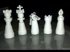 Quilled Chess Set by Binomial-Expansion.deviantart.com on @deviantART