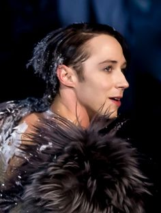 an exotic being   from a frozen, timeless land,   whose winged inhabitants   are partly   and exquisitely   made   of fur and ice...   Johnny Weir. Photo © David Ingogly @ Binky's Johnny Weir Blog.