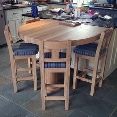Hallwood Furniture's hand made oak stools.