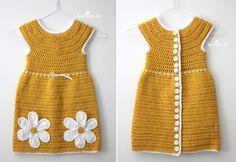 Caron Crochet Daisy Dress