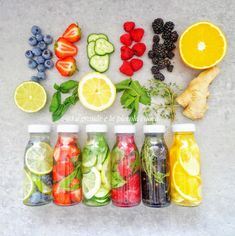 Wody smakowe - 6 przepisów Fresh Rolls, Food And Drink, Health Fitness, Detox Waters, Ethnic Recipes, Smoothie, Diet, Meal, Smoothies
