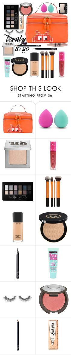 """""""My Beauty Bag"""" by sschuerr ❤ liked on Polyvore featuring beauty, Anya Hindmarch, Forever 21, Urban Decay, Jeffree Star, Maybelline, MAC Cosmetics, Gucci, NARS Cosmetics and Benefit"""