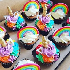 Best Pic unicorn Birthday Candles Strategies Coming from birthdays for you to birthdays, yearly we assemble with relatives and budd Cupcakes Lindos, Rainbow Cupcakes, Unicorn Birthday Parties, Birthday Cupcakes, Unicorn Party, Rainbow Birthday, 5th Birthday, Birthday Ideas, Unicorn Foods