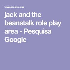 jack and the beanstalk role play area - Pesquisa Google