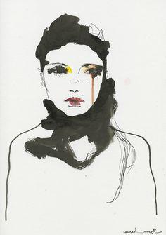 I LOVE ILLUSTRATION: London Fashion Week by Conrad Roset for SHOWstudio