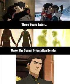 I love team avatar and mako himself but like foreals he was a player with both of them Tho I've always shipped korrasami and I never thought it will come through I hope that was a lesson for mako haha