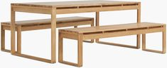 Block Island Dining Table - Design Within Reach Dining Table Height, Dining Table Design, Dining Bench, Dining Chairs, Outdoor Tables, Outdoor Dining, Danish Modern Furniture, Chair Pictures, Backyard Kitchen