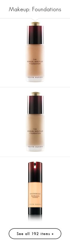 """""""Makeup: Foundations"""" by katiasitems on Polyvore featuring beauty products, makeup, face makeup, foundation, nude, paraben-free foundation, long wearing foundation, oil free foundation, anti aging foundation and kevyn aucoin"""