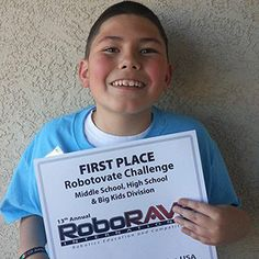 Angelo has autism and built a robot for the first time--and won an international competition!