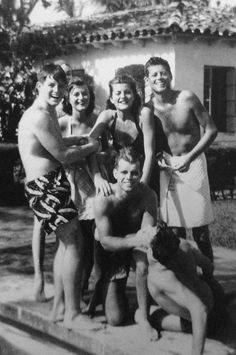 """"""" The Kennedy's having fun by the pool """""""