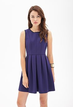 Pleated Scuba Knit Dress | FOREVER21 - 2055879387