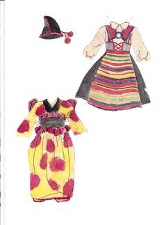 Helga paper doll (made up name) (3 of 4)   Maggans Nostalgiska klippdockor