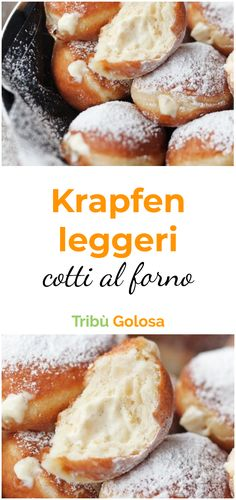 Krapfen LIGHT COOKED BAKED- Krapfen LEGGERI COTTI AL FORNO Adore i but what you cannot bear is that they are fried and therefore full of fat. This light baked version will allow you not to give up the taste of donuts or even the line! Mini Pastries, Breakfast Pastries, Sweet Recipes, Cake Recipes, Nutella, Beignets, Great Desserts, Donuts, I Love Food