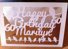 New to weheartcards on Etsy: Papercut Custom (or any age!) Birthday Greetings card - For Ornithologist - Personalized Bespoke Design - Paper Cut Blank Card - GBP) Birthday Greeting Cards, Birthday Greetings, Bespoke Design, Blank Cards, Paper Cutting, Personalised Cards, Age, Etsy, Personalized Cards