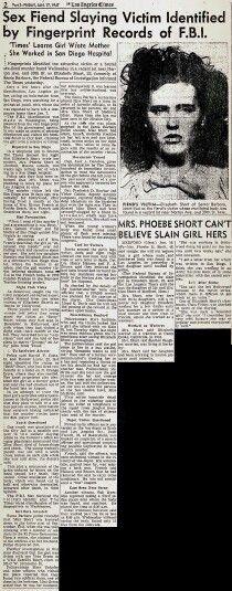 The black dahlia newspaper