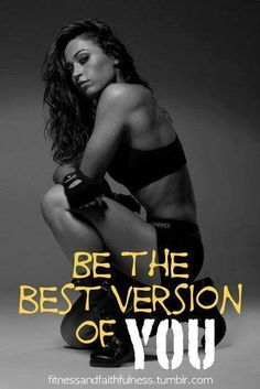 dont try to be anyone but you....the best you