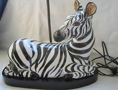 Vintage zebra lamp - purchased!