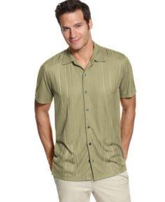 Via Europa Shirt, Short Sleeve Engineered Ribbed Polo - Mens Polos - Macy's