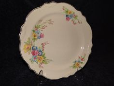 $4.99 HOMER LAUGHLIN VIRGINIA ROSE W-131 BOUQUET PATTERN  LUNCH DINNER PLATE #HomerLaughlin