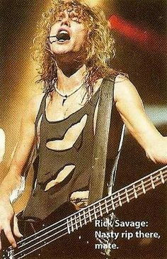 Rick Savage Hysteria tour