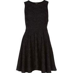 black skater dress - skater dresses - dresses - women - River Island