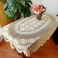 American Country Style Retro Hollow Table Cloths – USD $ 34.99