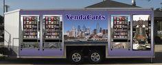 Mobile Vending Kiosk Stocked with Vending Machines -