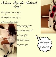 Ariana grande workout