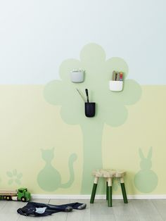 Fun shapes can be created by using stencils perfect for a kids room Specialist Paint, Kids Bedroom, Bedroom Ideas, Stencils, Shapes, Create, Fun, House, Painting