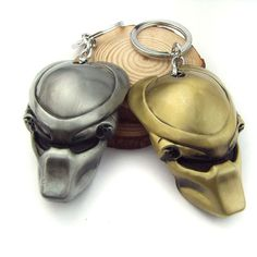 Hot sale 2016 Movie Super Hero AVP Alien Predator Keychain Alien Mask Design Key chain For Men's Fashion Gift  12pc/lot