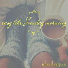 Easy like Sunday morning 💛 #sunday #morning #quotes