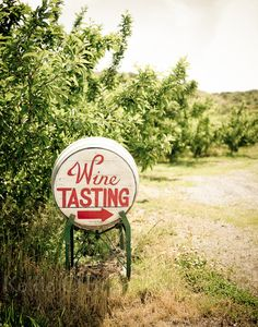 "Winery / Vineyard Photograph - 11x14 on a 1.5"" ""standout"" floating frame (sign, landscape, nature, Lake Chelan, Eastern Washington Wine). $90.00, via Etsy."