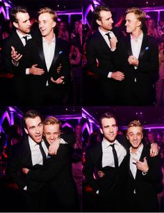 Tom Felton and Matt Lewis. - why are there no Neville-Malfoy shippers?  maybe there are...