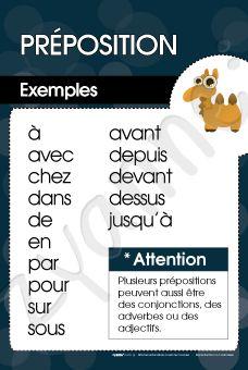 Préposition - Exemples