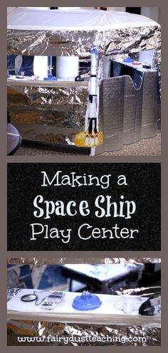 A step by step how to on making your own space ship play center!