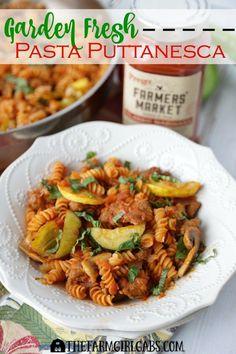 This Garden Fresh Pasta Puttanesca has plenty of spicy zip. Fresh ...